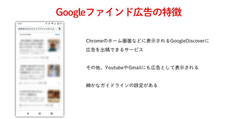 googleファインド広告の特徴
