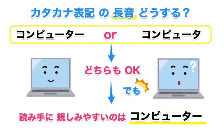 カタカナ表記のルール【長音】