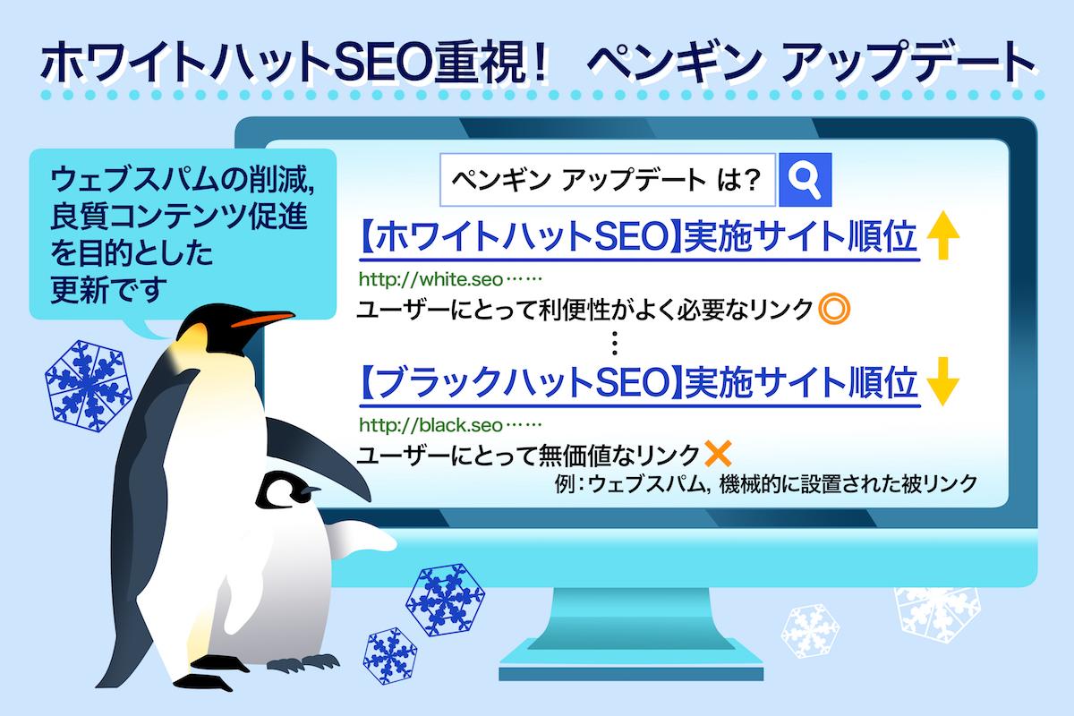 ホワイトハットSEO重視!ペンギンアップデート